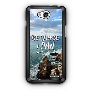 YuBingo Because I Can Designer Mobile Case Back Cover for LG L90