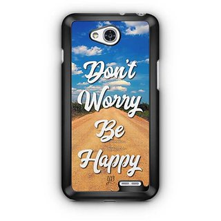 YuBingo Don't Worry. Be Happy Designer Mobile Case Back Cover for LG L90