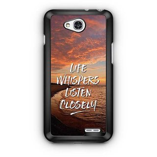 YuBingo Life Whispers. Listen Carefully Designer Mobile Case Back Cover for LG L90