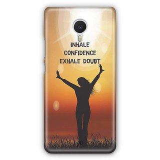 YuBingo Inhale Confidence Designer Mobile Case Back Cover for Meizu M3 Note