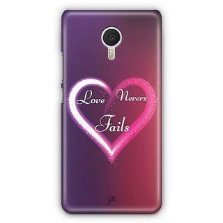 YuBingo Love Never Fails Designer Mobile Case Back Cover for Meizu M3 Note