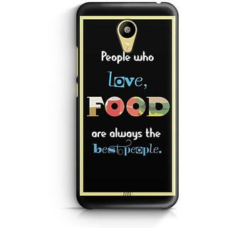 YuBingo Food Lovers are Best People Designer Mobile Case Back Cover for Meizu M3