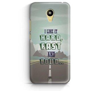 YuBingo Hard, Fast and Loud Designer Mobile Case Back Cover for Meizu M3