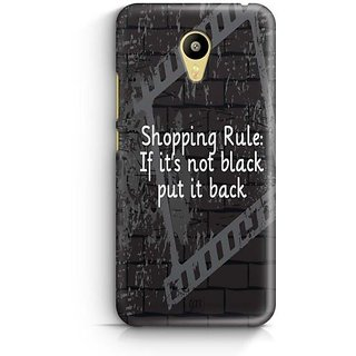 YuBingo If It's not black, put it back Designer Mobile Case Back Cover for Meizu M3