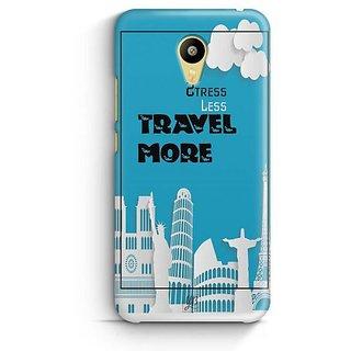 YuBingo Stress Less Travel More Designer Mobile Case Back Cover for Meizu M3