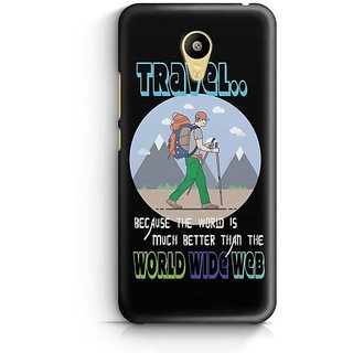 YuBingo The World is Better than World Wide Web Designer Mobile Case Back Cover for Meizu M3