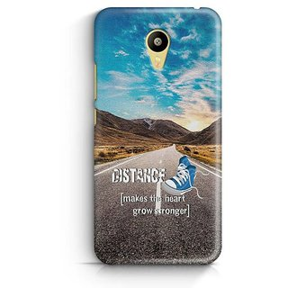YuBingo Distance makes the Heart Grow Stronger Designer Mobile Case Back Cover for Meizu M3