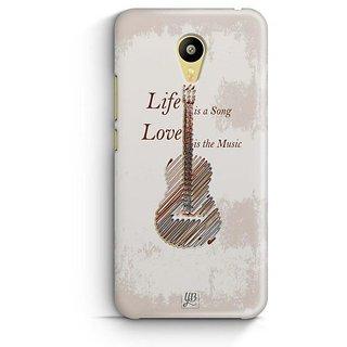 YuBingo Life is a Song Designer Mobile Case Back Cover for Meizu M3