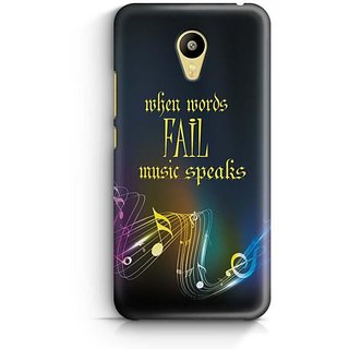 YuBingo When Words Fail, Music Speaks Designer Mobile Case Back Cover for Meizu M3