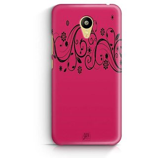 YuBingo Pink Flowery Pattern Designer Mobile Case Back Cover for Meizu M3
