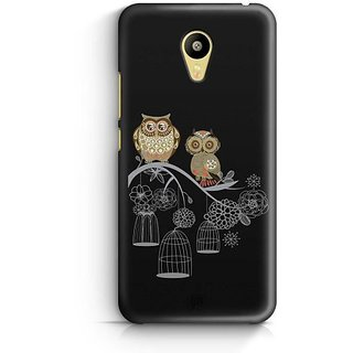 YuBingo Two Owls on a Tree Branch Designer Mobile Case Back Cover for Meizu M3