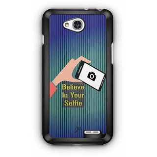 YuBingo Believe in your Selfie Designer Mobile Case Back Cover for LG L90