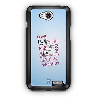 YuBingo Love is what you Feel Designer Mobile Case Back Cover for LG L90