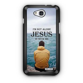 YuBingo Jesus is with Me Designer Mobile Case Back Cover for LG L90