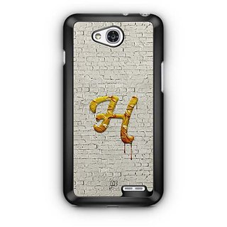 YuBingo Monogram with Beautifully Written Paint Finish letter H Designer Mobile Case Back Cover for LG L90