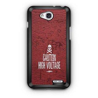 YuBingo Caution High Voltage Designer Mobile Case Back Cover for LG L90