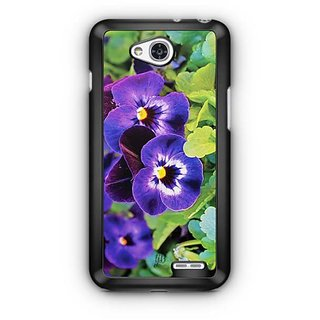 YuBingo Purple flowers Designer Mobile Case Back Cover for LG L90