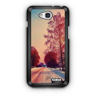 YuBingo Trees in Snow Designer Mobile Case Back Cover for LG L90