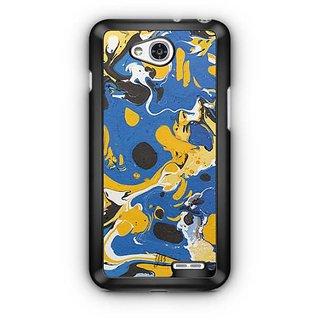YuBingo Blue Yellow Marble Finish (Plastic) Designer Mobile Case Back Cover for LG L90