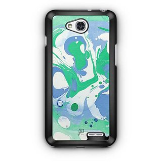 YuBingo Green Blue Marble Finish (Plastic) Designer Mobile Case Back Cover for LG L90