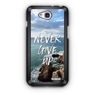 YuBingo Never Give Up Designer Mobile Case Back Cover for LG L90
