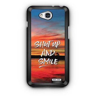 YuBingo Shut Up and Smile Designer Mobile Case Back Cover for LG L90
