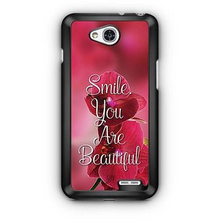 YuBingo Smile. You are Beautiful Designer Mobile Case Back Cover for LG L90