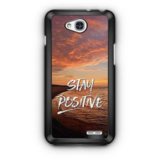 YuBingo Stay Positive Designer Mobile Case Back Cover for LG L90