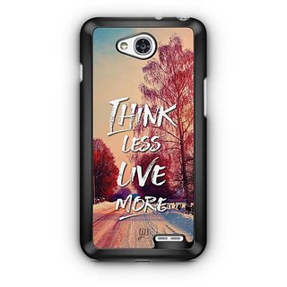 YuBingo Think Less. Live More Designer Mobile Case Back Cover for LG L90