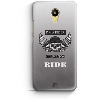 YuBingo Live To Ride Designer Mobile Case Back Cover for Meizu M3