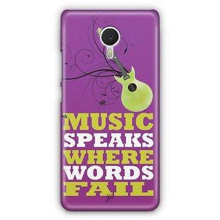 YuBingo Music Speaks Where Words Fail Designer Mobile Case Back Cover for Meizu M3 Note