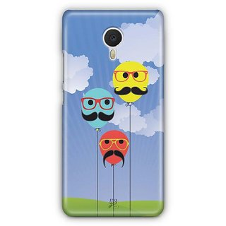 YuBingo Balloons with Moustaches Designer Mobile Case Back Cover for Meizu M3 Note