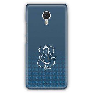 YuBingo Swastik and Ganesha Designer Mobile Case Back Cover for Meizu M3 Note