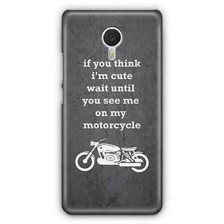 YuBingo See Me On My Motorcycle Designer Mobile Case Back Cover for Meizu M3 Note