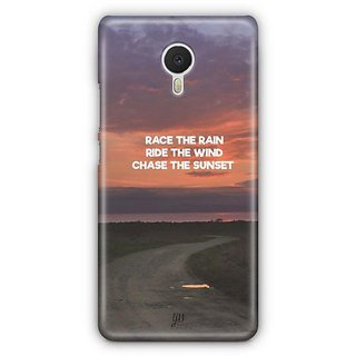 YuBingo Chase The Sunset Designer Mobile Case Back Cover for Meizu M3 Note