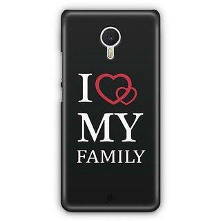 YuBingo I Love My Family Designer Mobile Case Back Cover for Meizu M3 Note