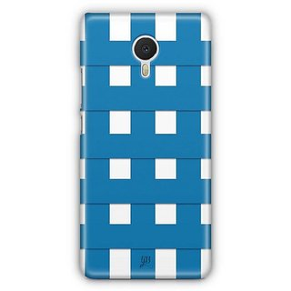 YuBingo Blue Square Pattern Designer Mobile Case Back Cover for Meizu M3 Note