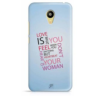 YuBingo Love is what you Feel Designer Mobile Case Back Cover for Meizu M3
