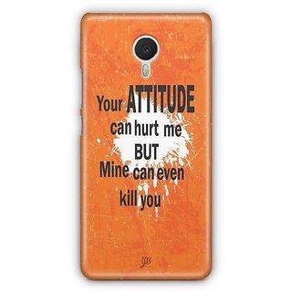 YuBingo My Attitude can Kill You Designer Mobile Case Back Cover for Meizu M3 Note