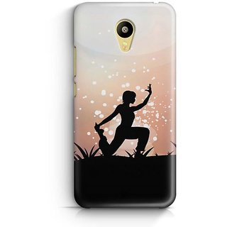 YuBingo The Yoga Pose Designer Mobile Case Back Cover for Meizu M3