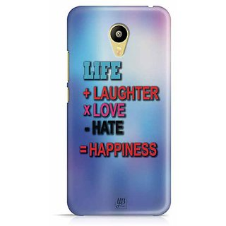 YuBingo Life + Laughter * Love - Hate = Happiness Designer Mobile Case Back Cover for Meizu M3