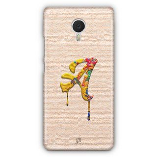YuBingo Monogram with Beautifully Written Paint Finish letter A Designer Mobile Case Back Cover for Meizu M3 Note