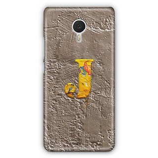 YuBingo Monogram with Beautifully Written Paint Finish letter J Designer Mobile Case Back Cover for Meizu M3 Note