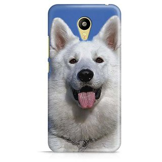 YuBingo White Dog Designer Mobile Case Back Cover for Meizu M3