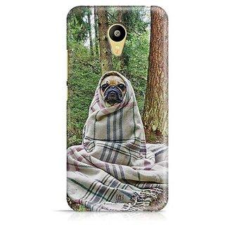 YuBingo Pug feeling cold Designer Mobile Case Back Cover for Meizu M3