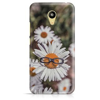 YuBingo Sunflower wearing glasses Designer Mobile Case Back Cover for Meizu M3