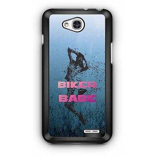 YuBingo Biker Babe Designer Mobile Case Back Cover for LG L90