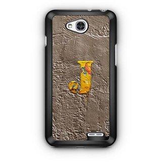 YuBingo Monogram with Beautifully Written Paint Finish letter J Designer Mobile Case Back Cover for LG L90