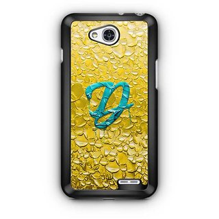 YuBingo Monogram with Beautifully Written Funky Colourful Paint Finish letter D Designer Mobile Case Back Cover for LG L90