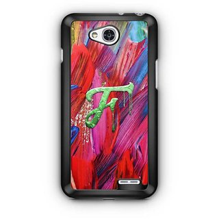 YuBingo Monogram with Beautifully Written Funky Colourful Paint Finish letter F Designer Mobile Case Back Cover for LG L90